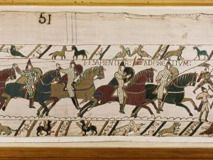 Bayeux Tapestry, Normandy, France, Europe by Robert Harding