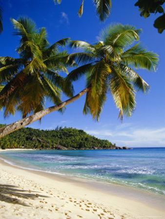 Beach, Anse Takamaka, Mahe Island, Seychelles by Robert Harding