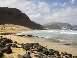 Deserted Beach at Praia Grande, Sao Vicente, Cape Verde Islands, Atlantic Ocean, Africa by Robert Harding
