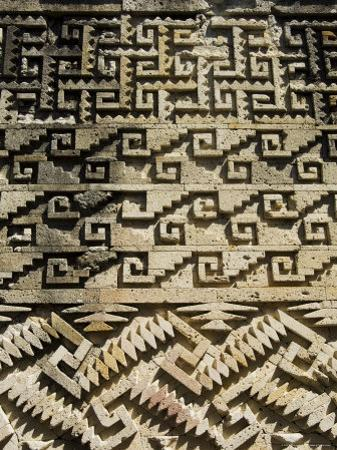 Fantastic Geometric Carving, Palace of the Columns, Mitla, Oaxaca, Mexico by Robert Harding