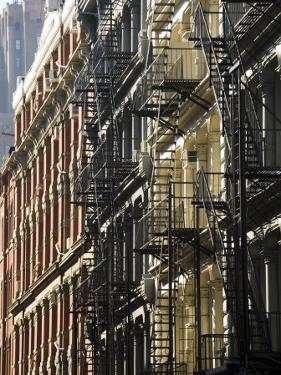 Fire Escapes on the Outside of Buildings in Spring Street, Soho, Manhattan, New York, USA by Robert Harding