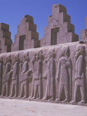 Frieze, Persepolis, Unesco World Heritage Site, Iran, Middle East by Robert Harding