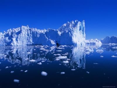 Icebergs from the Icefjord, Ilulissat, Disko Bay, Greenland, Polar Regions by Robert Harding