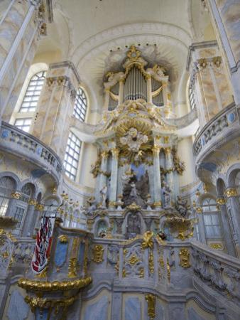 Interior of Frauenkirche, Dresden, Saxony, Germany, Europe by Robert Harding