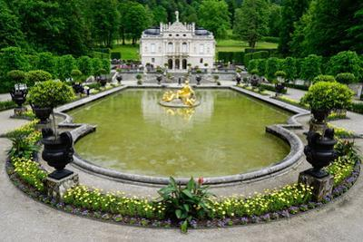 Palace of Linderhof, Royal Villa of King Ludwig the Second, Bavaria, Germany, Europe