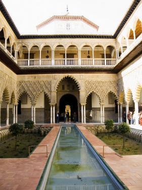 Patio De Las Doncellas, Real Alcazar, Santa Cruz District, Seville, Andalusia, Spain by Robert Harding
