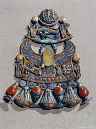 Pectoral in Gold Cloisonne with Semi-Precious Stones and Glass-Paste, Thebes, Egypt by Robert Harding
