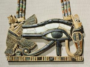 Pectoral of the Sacred Eye Flanked by Serpent Goddess and Vulture Goddess, Egypt, North Africa by Robert Harding