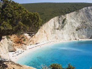 Porto Katsiki Beach, West Coast of Lefkada, Ionian Islands, Greek Islands, Greece, Europe by Robert Harding