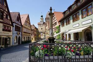 Rothenburg Ob Der Tauber, Romantic Road, Franconia, Bavaria, Germany, Europe by Robert Harding