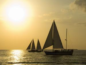 Sailboats at Sunset, Key West, Florida, United States of America, North America by Robert Harding