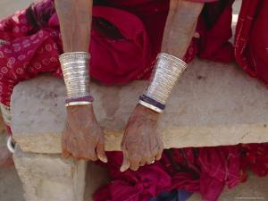 Siver Bracelets, Jodpur, Rajasthan, India by Robert Harding
