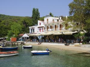 Small Fishing Harbour of Agnontas, Skopelos, Sporades Islands, Greek Islands, Greece, Europe by Robert Harding
