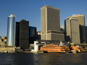 Staten Island Ferry, Business District, Lower Manhattan, New York City, New York, USA by Robert Harding