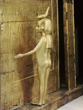 Statue of the Goddess Serket Protecting the Canopic Chest or Shrine, Thebes, Egypt by Robert Harding