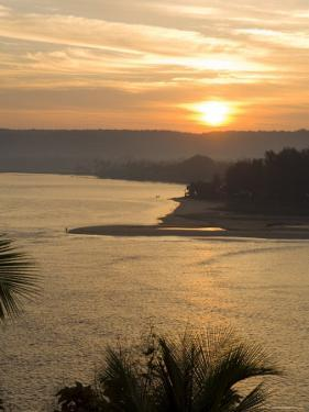 Sunset Over the Tiracol River, Goa, India by Robert Harding