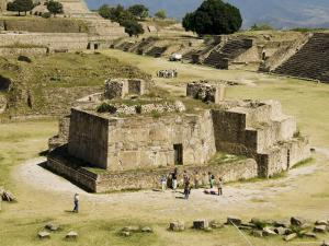 The Ancient Zapotec City of Monte Alban, Near Oaxaca City, Oaxaca, Mexico, North America by Robert Harding