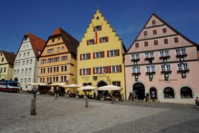 The Market Square, Rothenburg Ob Der Tauber, Romantic Road, Franconia, Bavaria, Germany, Europe by Robert Harding