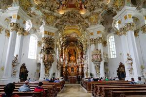 The Weiskirche (White Church), UNESCO World Heritage Site, Near Fussen, Bavaria, Germany, Europe by Robert Harding