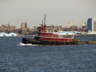 Tug on Hudson River, Manhattan, New York City, New York, United States of America, North America by Robert Harding