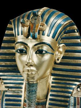 Tutankhamun's Funeral Mask in Solid Gold Inlaid with Semi-Precious Stones, Thebes, Egypt by Robert Harding