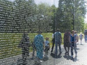 Vietnam Veterans Memorial Wall, Washington D.C., USA by Robert Harding