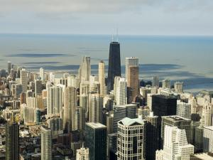 View of Chicago from the Sears Tower Sky Deck, Chicago, Illinois, USA by Robert Harding