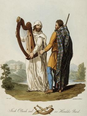 Irish Ollamh and an Heraldic Bard by Robert Havell