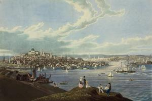 View of the City of Boston from Dorchester Heights by Robert Havell