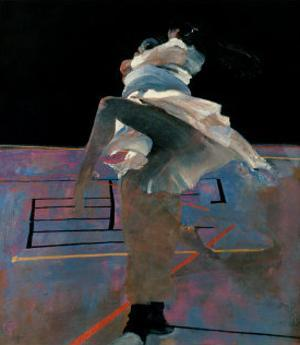 Dancers on a Purple Floor by Robert Heindel