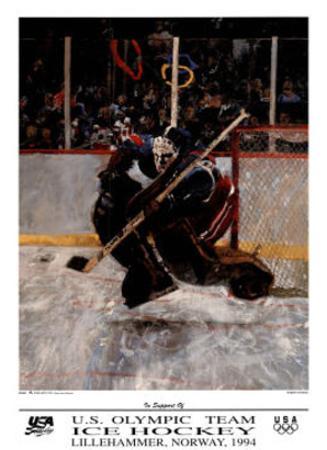 U.S. Olympic Team Hockey Lillehammer, c.1994 by Robert Heindel
