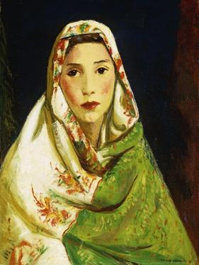 Mexican Girl with Oriental Scarf, 1916 by Robert Henri
