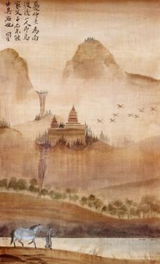 Land of the Pagoda I by Robert Holman