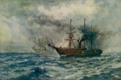 Engagement Between the Federal Steam-Sloop Kearsarge and the Confederate War-Steamer Alabama by Robert Hopkin