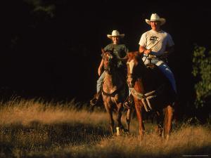 Couple Horseback Riding, Jack London State Park, CA by Robert Houser