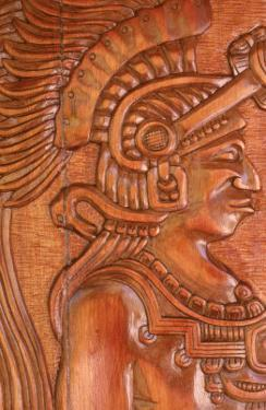 Mayan Wood Carving, Gales Point, Belize by Robert Houser
