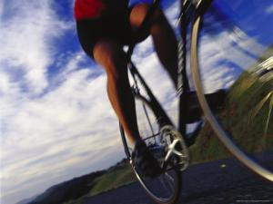 Person Riding Bicycle, Mt. Tamalpais, CA by Robert Houser