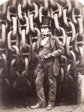 Isambard Kingdom Brunel, Standing in Front of the Launching Chains of the 'Great Eastern', 1857 by Robert Howlett