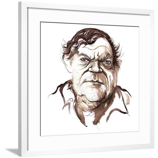 Robert Hughes, Australian art critic (b-Neale Osborne-Framed Giclee Print