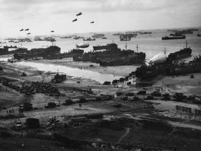 D-Day - Supplies Pour Ashore