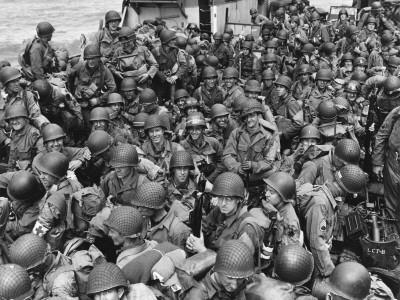 D-Day - US Assault Troops En Route for French Invasion