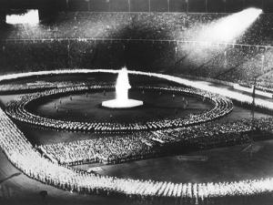 Parade in the Olympic Stadium During the 1936 Berlin Olympics in Germany by Robert Hunt