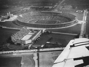 The 1936 Berlin Olympic Stadium, Aerial View, in Berlin, Germany in 1936 by Robert Hunt