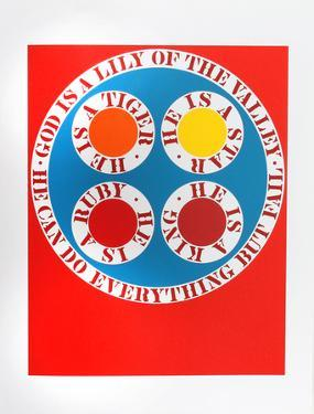 God is Lily of the Vallery (from the American Dream Portfolio) by Robert Indiana