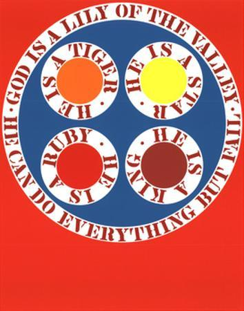 God Is Lily of the Valley by Robert Indiana