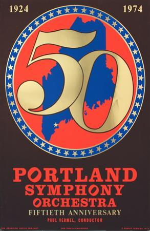 Portland Symphony Orchestra 50th Anniversary by Robert Indiana