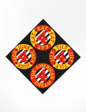 The Beware Danger (from the American Dream Portfolio) by Robert Indiana