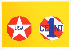 The New Glory Penny (from the American Dream Portfolio) by Robert Indiana