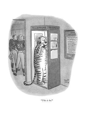 """This is he."" - New Yorker Cartoon by Robert J. Day"