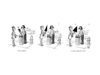 """""""Two dollars.""""""""?and seventy-five cents."""" - New Yorker Cartoon"""